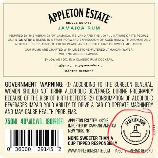 Appleton Estate Jamaica rum - GI