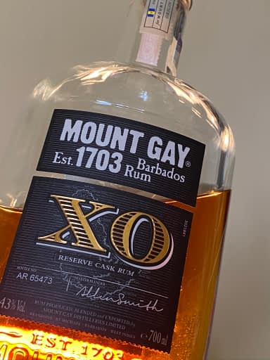 Mount Gay XO bottle
