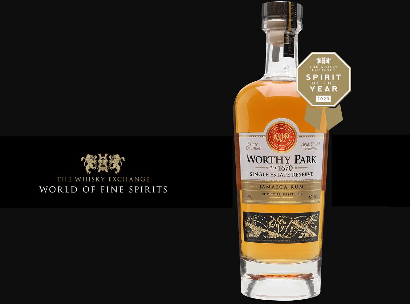 Worthy Park Single Estate Reserve destilátem roku na The Whisky Exchange