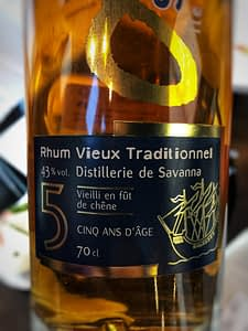 Rhum Vieux Traditionnel Savana 5
