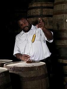 Mount Gay Rum master blender Allen Smith at work