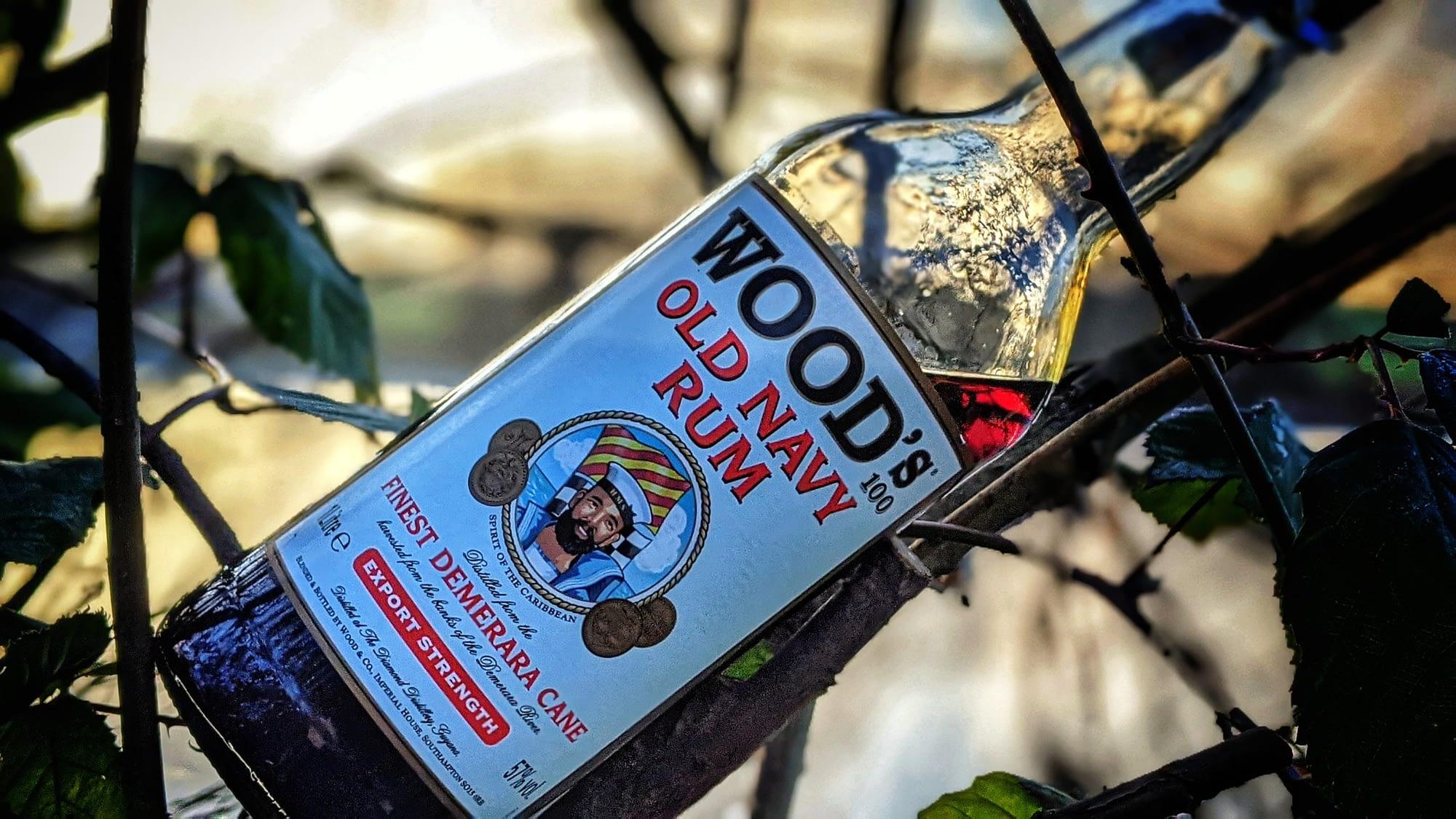 Wood's Old Navy rum – lékořice v láhvi
