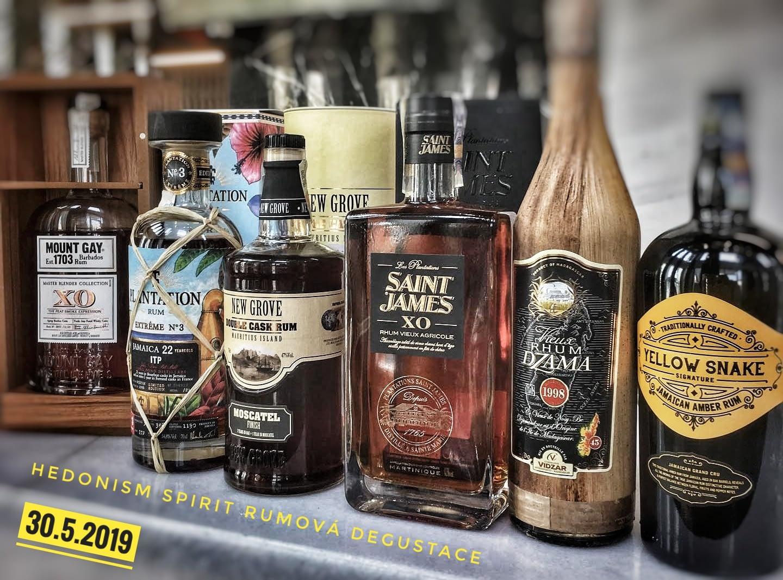 Hedonism Spirit – Degustace rumů v J&T Café Brno