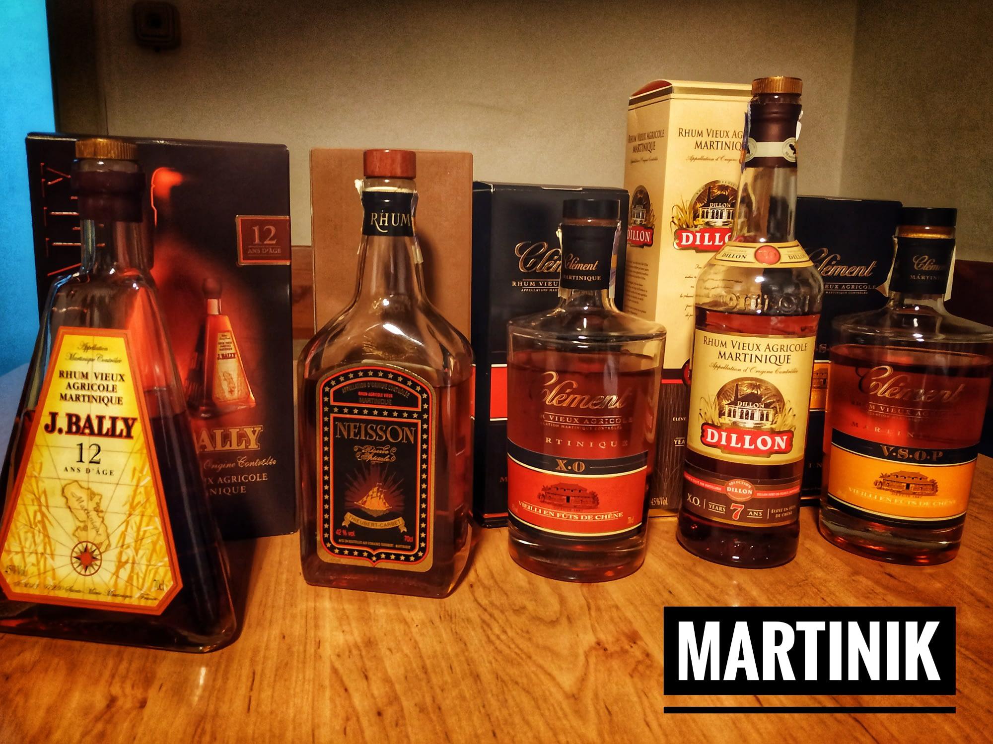 slepa degustace martinik rumset