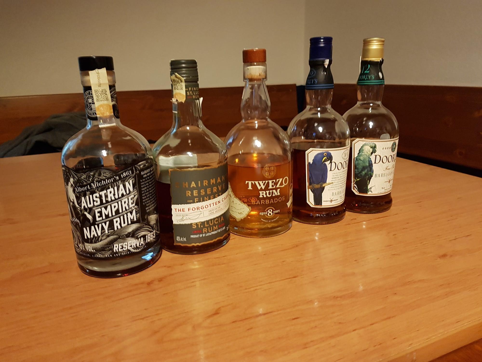 British rum tasting