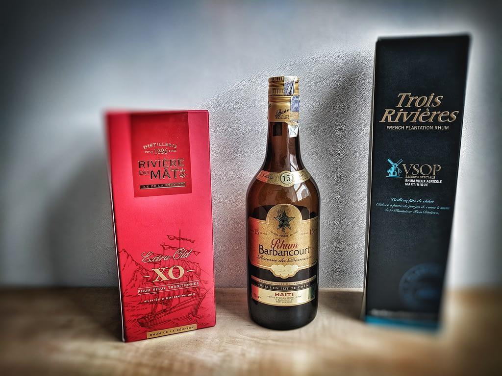 rumy z francouzskych ostrovu