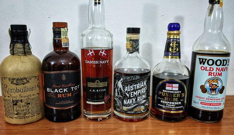 blind tasting navy rums