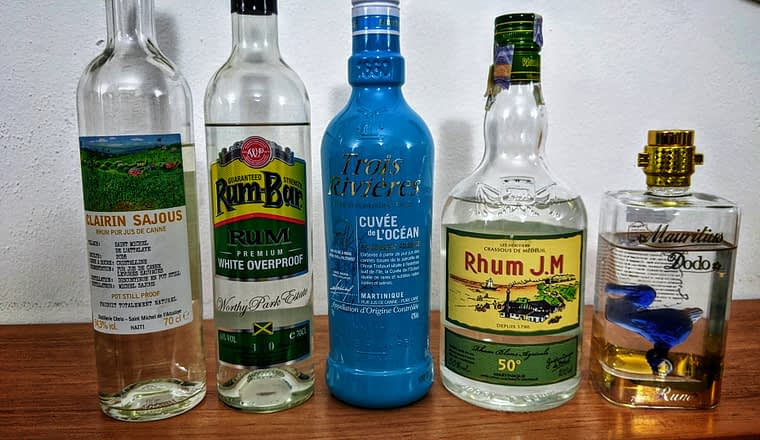 blind tasting white rums