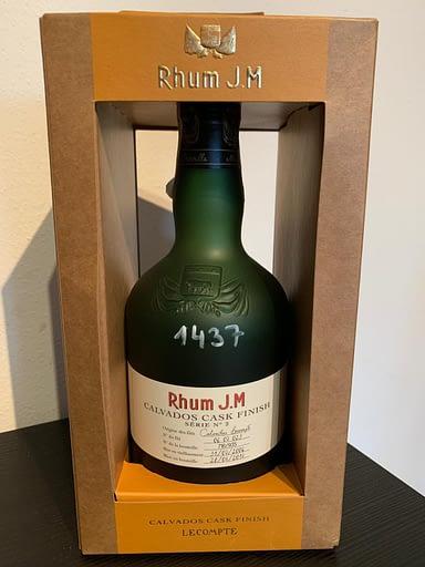 Rhum Jm calvados cask bottle