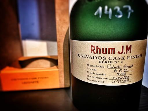 Rhum JM Calvados cask finish label